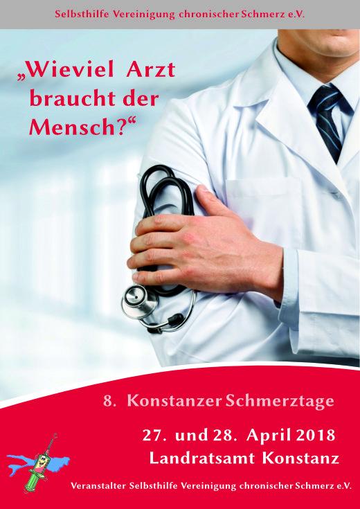 Deckblatt der 8. Konstanzer Schmerztage.