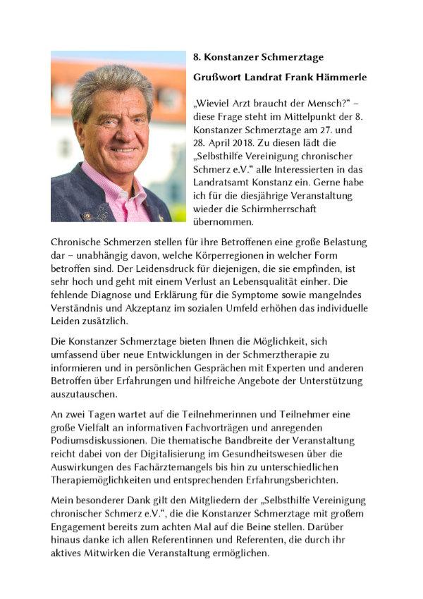 Grußwort Landrat Frank Hämmerle Seite 1