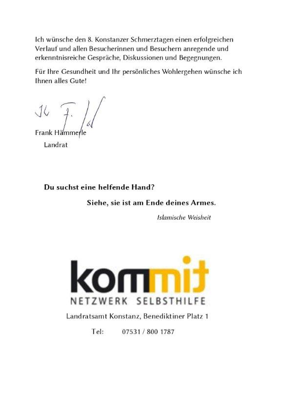 Grußwort Landrat Frank Hämmerle Seite 2.