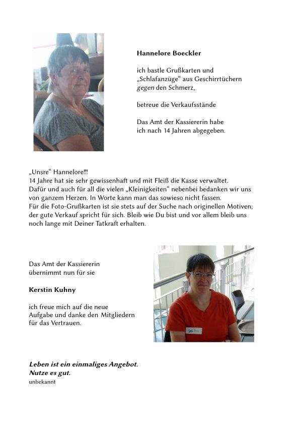 Text von Frau Boeckler und Frau Kuhny.