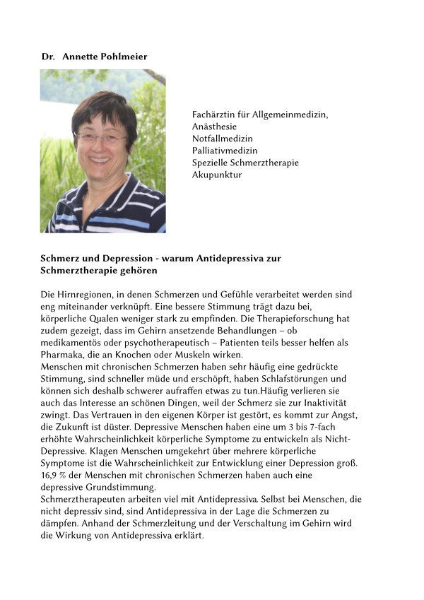 Text von Frau Dr. Pohlmeier.
