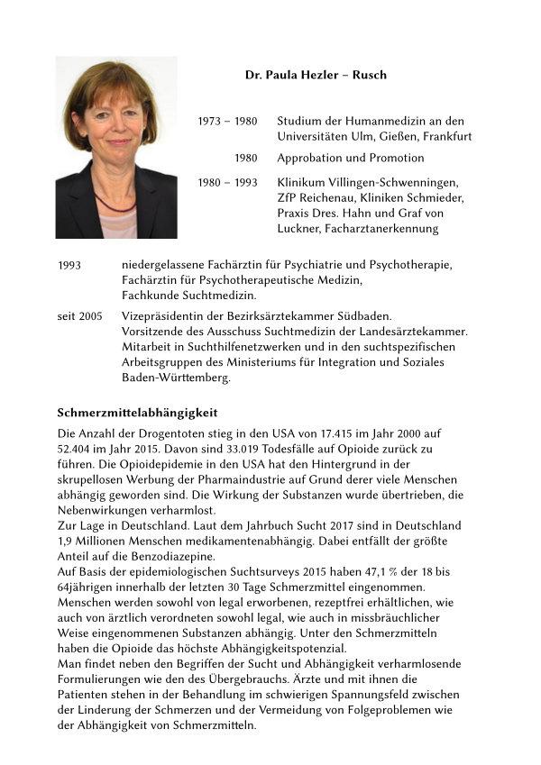 Text von/über Frau Dr. Hezler-Rusch.
