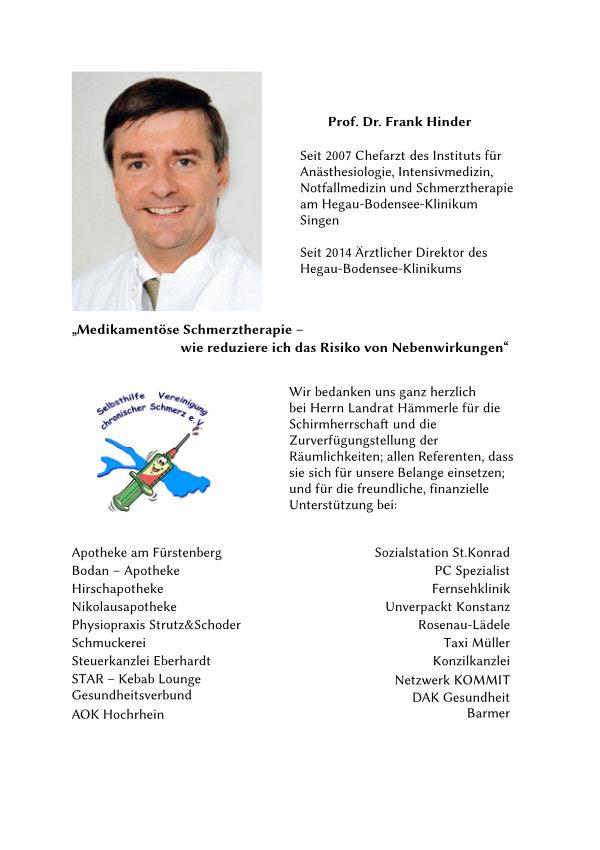 Vorstellung Prof. Dr. Hinder.