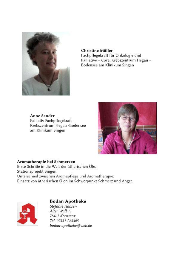 Vorstellung zweier Pflegekräfte des Krebszentrum Hegau.